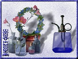 Blue Glass Plant Mister