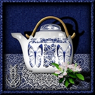 Blue and White Teapot